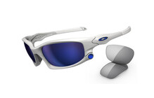 Oakley Split Jacket polished white/ice iridium, light grey array